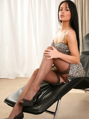 """Dark hair beauty strips out of the minidress. "" pics ~ hot-pussy.cc"