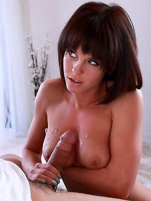 Tanned toned brunette Rahyndee James gives her lover a hot wet blowjob and a breakneck ride in her juicy soft pussy pics ~ hot-pussy.cc