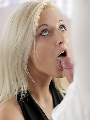 Blonde babe Katy Rose gets naked and gives her man a big blowjob and a stiffie ride in her creamy landing strip pussy pics ~ hot-pussy.cc